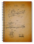 Flying Submarine Patent Spiral Notebook
