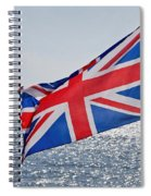 Flying The British Flag Spiral Notebook