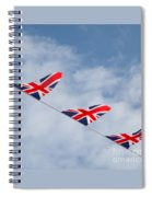 Flying The Union Jack Spiral Notebook