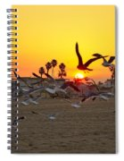 Flying To The Rising Sun Spiral Notebook