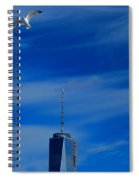 Flyover One World Trade Center Spiral Notebook