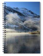 Fog At Swiftcurrent Spiral Notebook