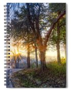 Fog At The Farm Spiral Notebook