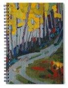 Fog Birches On The Edge Spiral Notebook
