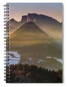 Fog Covered Mountains At Sunset Spiral Notebook