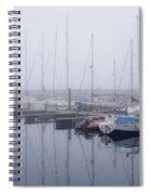 Fog In Marina I Spiral Notebook