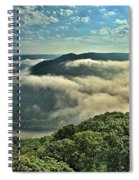 Fog In The Grand View Valley Spiral Notebook