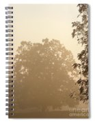 Fog Over Countryside Spiral Notebook