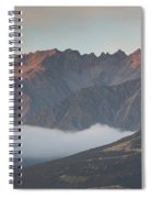 Fog Over Mountain At Dawn, Aorakimount Spiral Notebook
