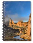 Fog Over Smith Rock Spiral Notebook