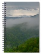 Fog Over The Smokies Spiral Notebook
