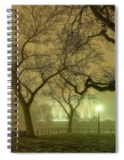 Foggy Approach To The Lincoln Memorial Spiral Notebook