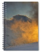 Foggy At Sunset 3000 Meters Spiral Notebook