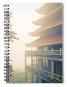 Foggy At The Reading Pagoda Spiral Notebook