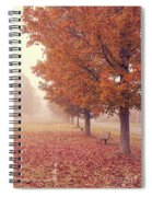 Foggy Autumn Morning Etna New Hampshire Spiral Notebook