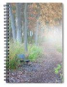 Foggy Autumn Morning Spiral Notebook