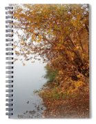 Foggy Autumn Riverbank Spiral Notebook