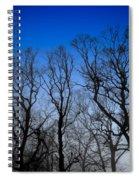 Foggy Blue Morning Spiral Notebook