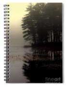 Foggy Bog Sunrise Spiral Notebook