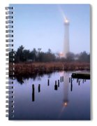 Foggy Cape May Light Spiral Notebook