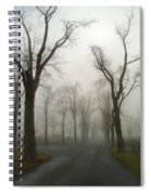 Foggy Cemetery Road Spiral Notebook