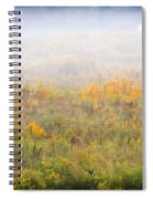 Foggy Country Autumn Morning Spiral Notebook