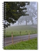 Foggy Country Lane Spiral Notebook