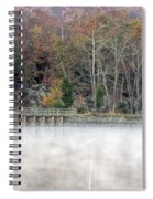 Foggy Fall On Maryland Towpath Spiral Notebook