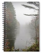 Foggy Fall River Spiral Notebook