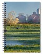 Foggy Farm Morning Spiral Notebook