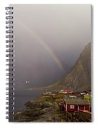 Foggy Hamnoy Rorbu Village Spiral Notebook