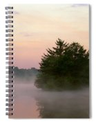 Foggy Lake Spiral Notebook