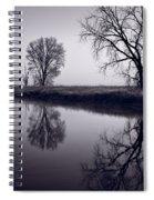 Foggy Morn Bw Spiral Notebook