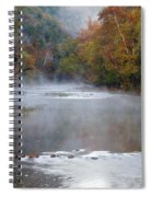 Foggy Morning On The Buffalo Spiral Notebook