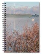 Foggy Morning On The Sacramento River Spiral Notebook