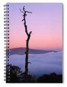 Foggy Mountain Morning Spiral Notebook