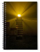 Foggy Night At West Quoddy Light Spiral Notebook