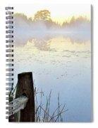 Foggy Pond Spiral Notebook