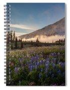 Foggy Rainier Sunset Spiral Notebook