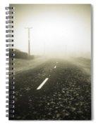 Foggy Road  Spiral Notebook