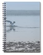 Foggy Seabirds Low Tide Buffet Spiral Notebook
