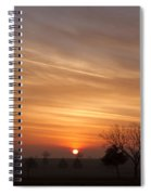 Foggy Sunrise Spiral Notebook