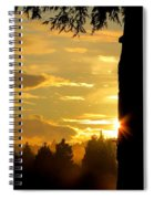 Backyard Sunset Spiral Notebook