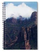 Foggy Superstition Mountains   Spiral Notebook