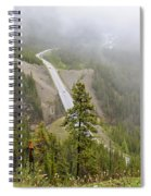 Foggy View From Icefields Parkway Spiral Notebook