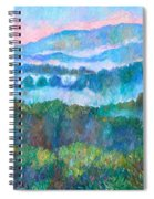 Foggy View From Mill Mountain Spiral Notebook