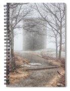 Foggy View Of The Summit Of Mount Battie Spiral Notebook
