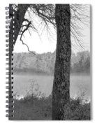 Foggy Waters Bw Spiral Notebook