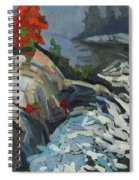 Foggy Whitefish Rapids Spiral Notebook