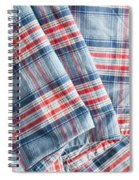 Folded Fabric Spiral Notebook